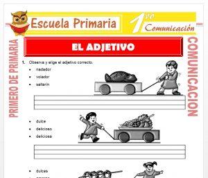 Ficha de El Adjetivo para Primero de Primaria