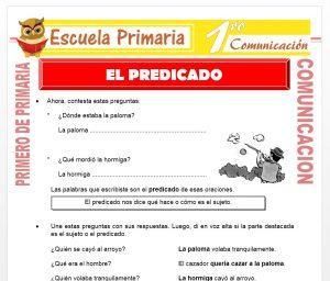 Ficha de El Predicado para Niños Primero de Primaria