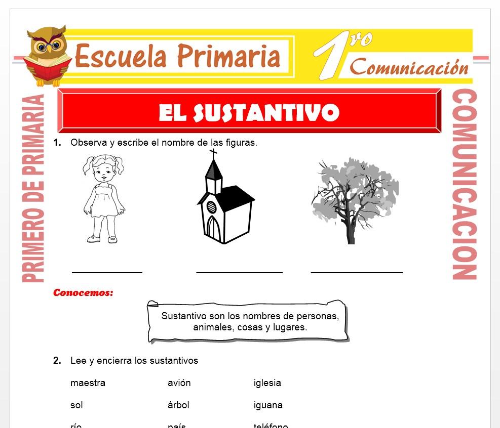 Ficha de El Sustantivo para Primero de Primaria