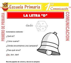 Ficha de La Letra D para Primero de Primaria