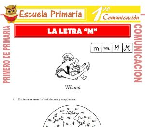 Ficha de La Letra M para Primero de Primaria