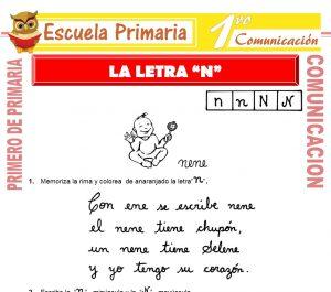 Ficha de La Letra N para Primero de Primaria