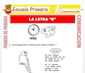 Ficha de La Letra R para Primero de Primaria