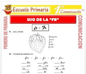 Ficha de Uso de la FR para Primero de Primaria