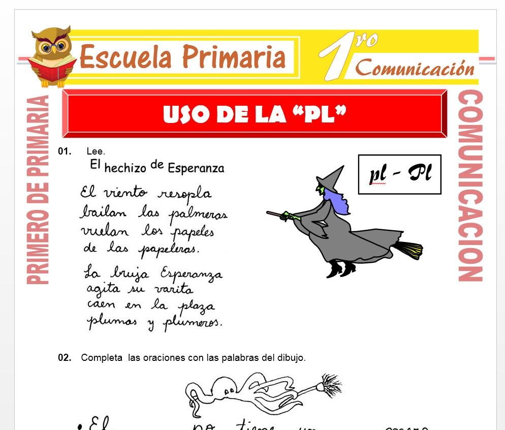 Ficha de Uso de la PL para Primero de Primaria