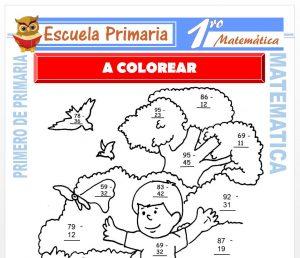 Ficha de A Colorear para Primero de Primaria