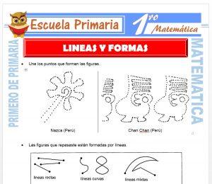 Ficha de Líneas y Formas para Primero de Primaria