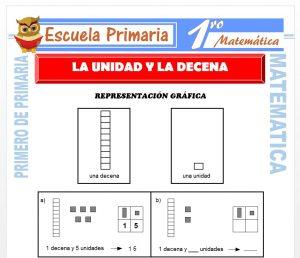 Ficha de La Unidad y La Decena para Primero de Primaria