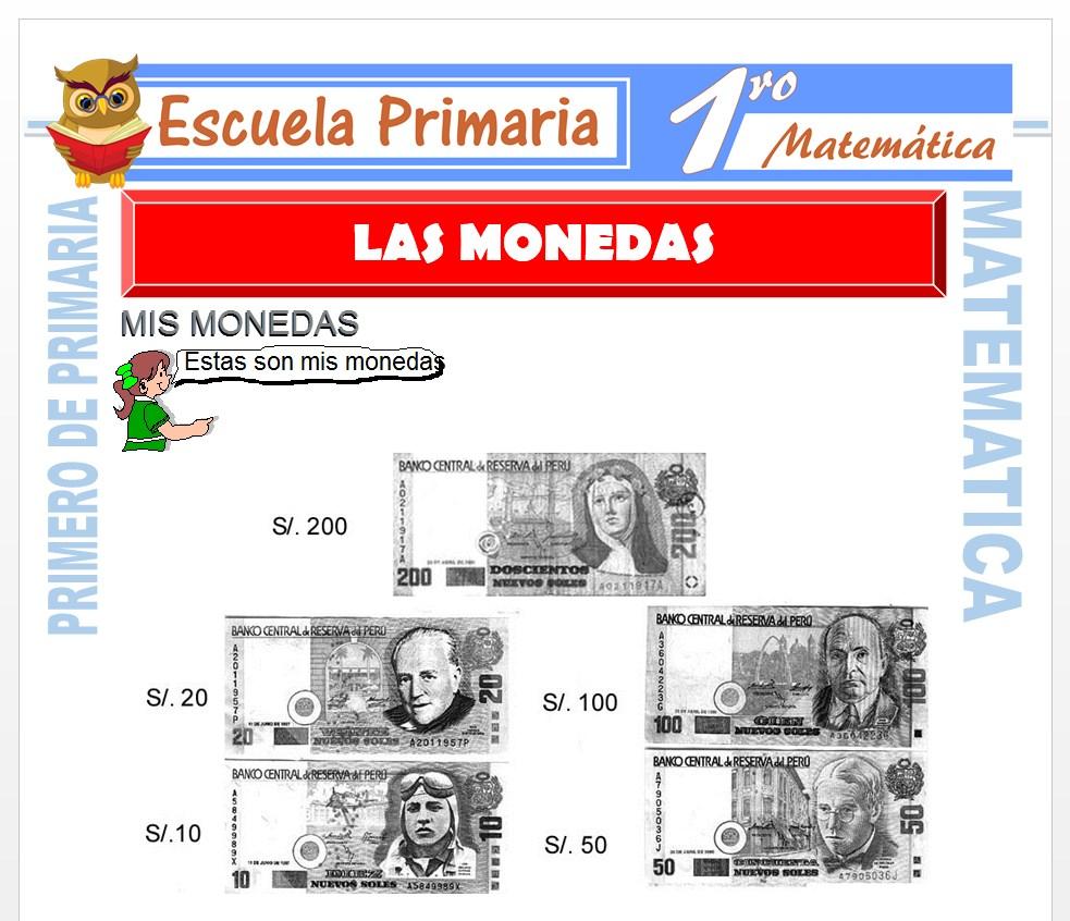 Ficha de Las Monedas para Primero de Primaria
