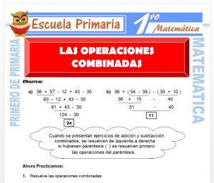 Ficha de Las Operaciones Combinadas para Primero de Primaria
