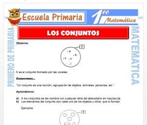 Ficha de Los Conjuntos para Primero de Primaria