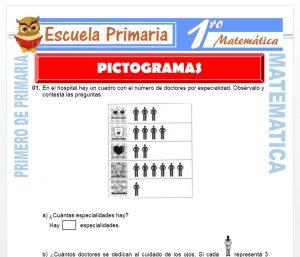Ficha de Los Pictogramas para Primero de Primaria