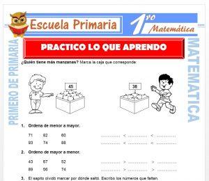 Ficha de Practico lo que Aprendo para Primero de Primaria