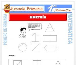 Ficha de Simetria para Primero de Primaria