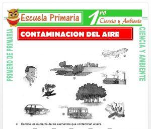 Ficha de Contaminacion del Aire para Primero de Primaria