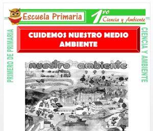 Ficha de Cuidemos el Medio Ambiente para Primero de Primaria