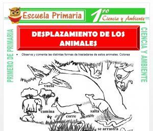 Ficha de Desplazamiento de Los Animales para Primero de Primaria