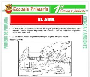 Ficha de El Aire para Primero de Primaria