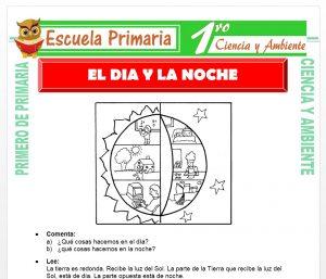 Ficha de El Dia y La Noche para Primero de Primaria