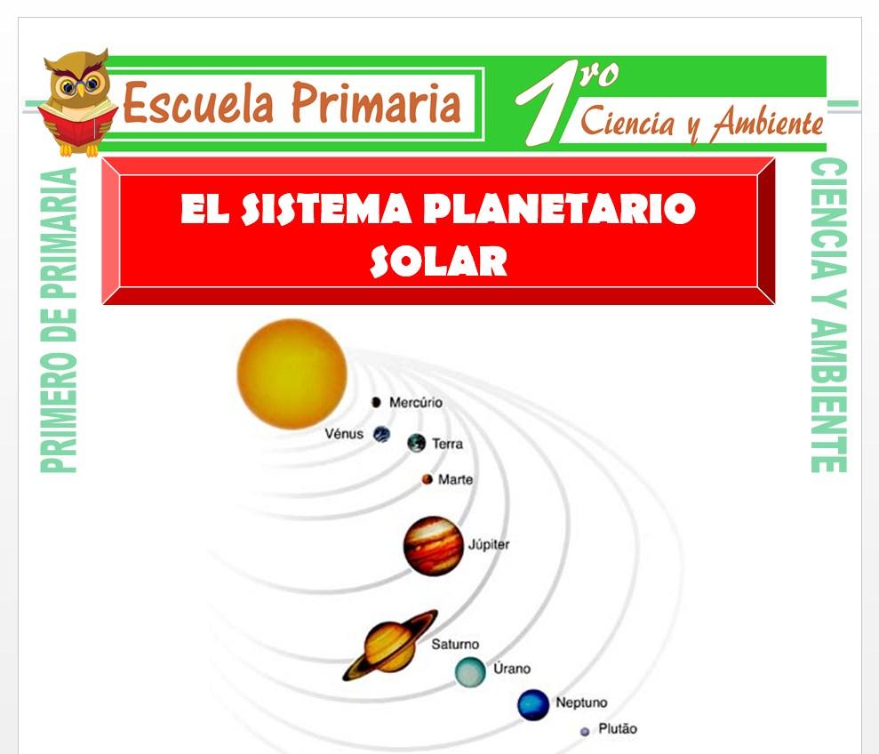 Ficha de El Sistema Planetario para Primero de Primaria