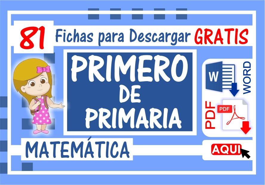 Ejercicios de Matematica para Primero de Primaria