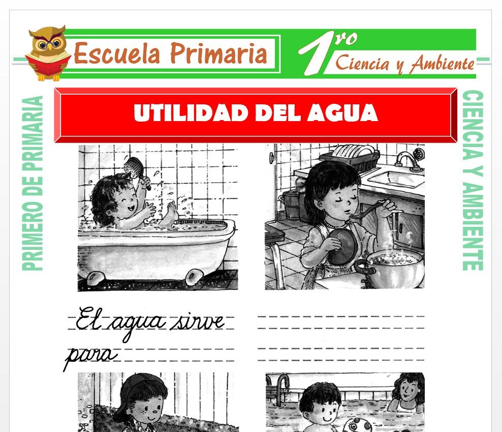 Ficha de Utilidad del Agua para Primero de Primaria