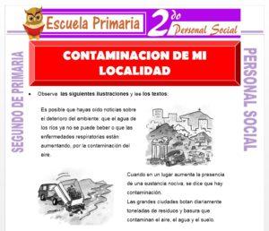Ficha de Contaminación de mi Localidad para Segundo de Primaria