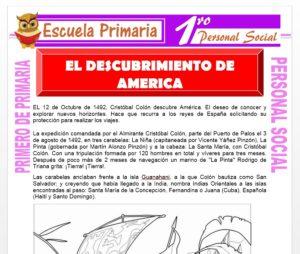 Ficha de Descubrimiento de America