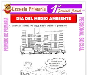 Ficha de Día del Medio Ambiente para Primero de Primaria