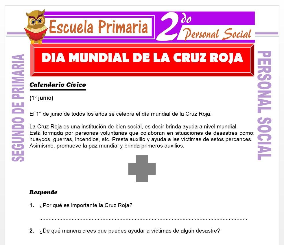 Ficha de Dia Mundial de la Cruz para Segundo de Primaria