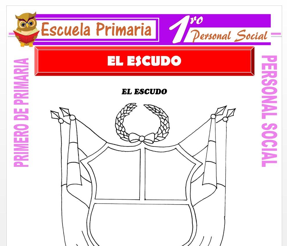 Ficha de El Escudo para Primero de Primaria