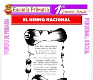 Ficha de El Himno Nacional para Primero de Primaria