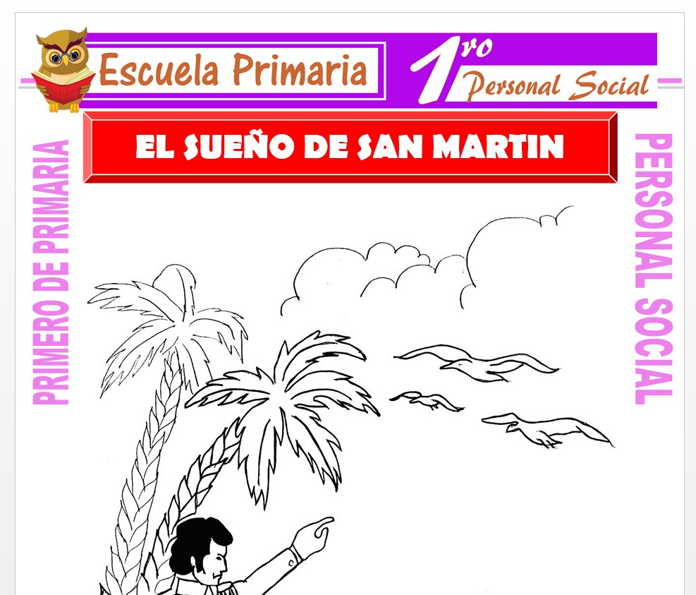 Ficha de El Sueño de San Martin para Primero de Primaria