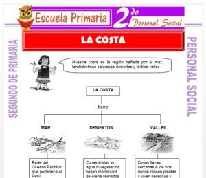 Ficha de La Costa para Segundo de Primaria