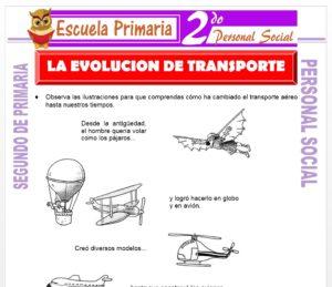 Ficha de La Evolución del Transporte para Segundo de Primaria