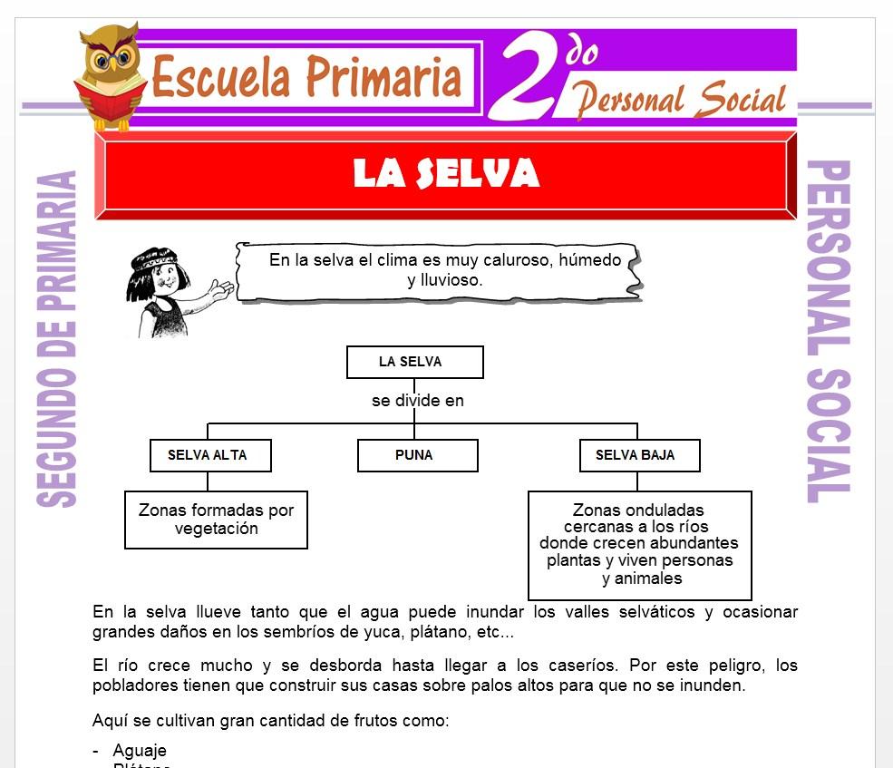 Ficha de La Silva para Segundo de Primaria