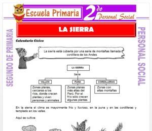 Ficha de La Sierra para Segundo de Primaria