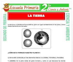Ficha de La Tierra para Segundo de Primaria