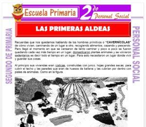Ficha de Las Primeras Aldeas para Segundo de Primaria