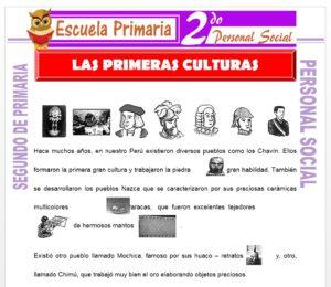 Ficha de Las Primeras Culturas para Segundo de Primaria