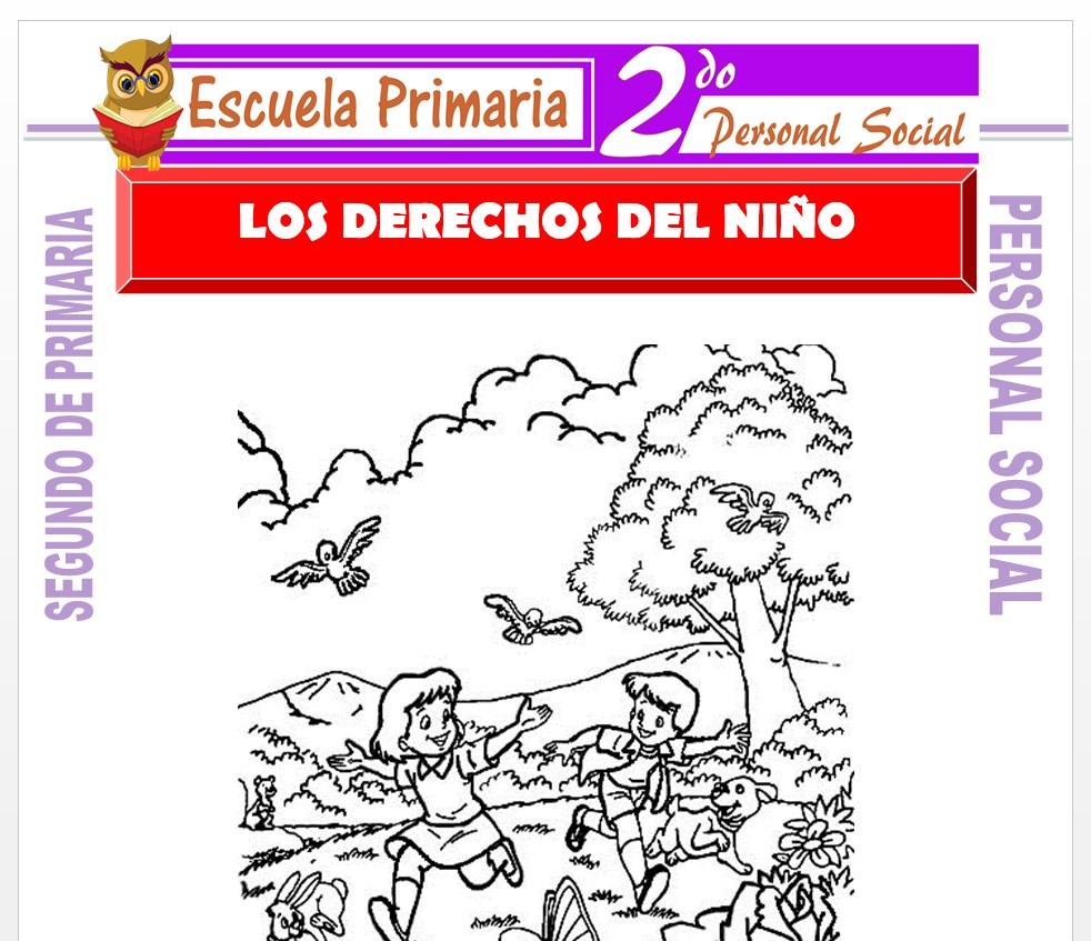 Ficha de Los Deberes y Derechos del Niño para Segundo de Primaria