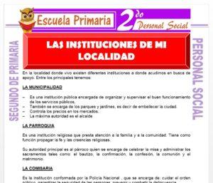 Ficha de Mi Localidad para Segundo de Primaria