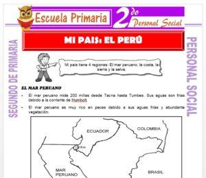 Ficha de Mi Pais el Perú para Segundo de Primaria