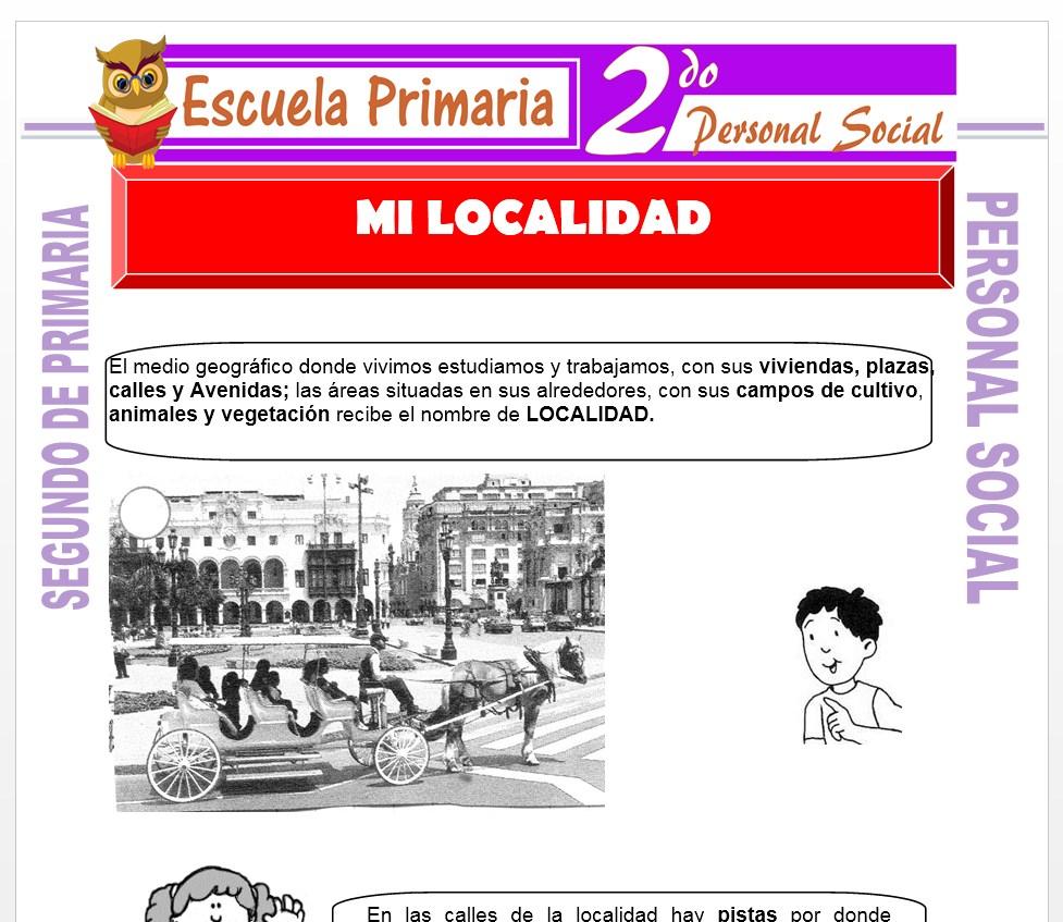 Ficha de Nuestra Localidad para Segundo de Primaria