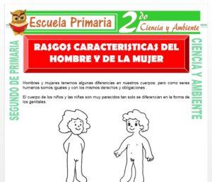 Ficha de Rasgos y Características del Hombre y la Mujer para Segundo de Primaria