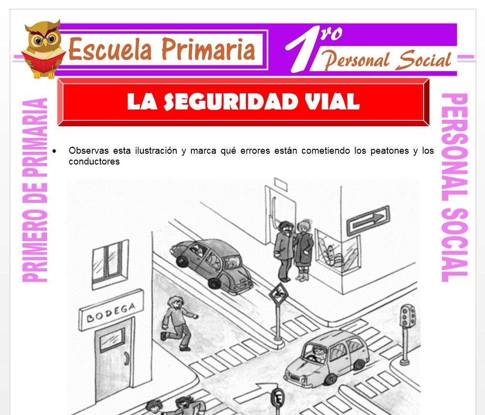 Ficha de Seguridad Vial para Primero de Primaria