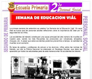 Ficha de Semana de la Educación Vial para Segundo de Primaria