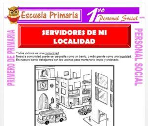 Ficha de Servidores de Mi Localidad para Primero de Primaria