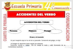 Ficha de Accidentes del Verbos para Cuarto de Primaria