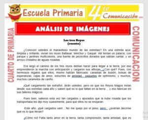 Ficha de Actividades de Análisis de Imagenes para Cuarto de Primaria